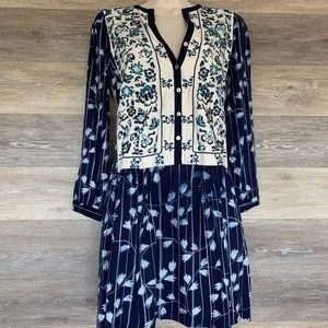 Anthropologie TINY embroidered tunic dress